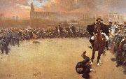 Ramon Casas i Carbo The Charge or Barcelona 1902 china oil painting reproduction